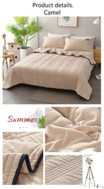 Load image into Gallery viewer, 🔥Delay insurance🔥Cool Ice Silk Summer Blanket Queen King Size-Perfect For Summer