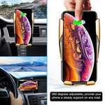 Load image into Gallery viewer, Wireless Automatic Sensor Car Phone Holder Charger