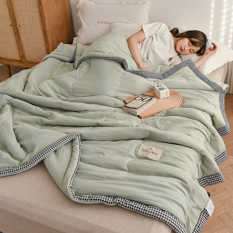 Lula® Cotton Reversible Air Conditioning Cool Breathable Soft Lightweight Summer Quilt  Twin Full Queen King Size