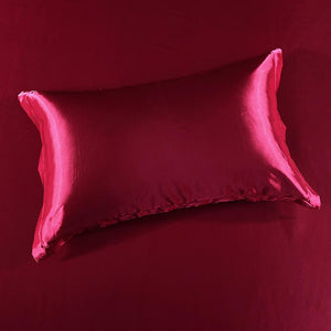 ❄️Natural Silk -Solid Color Beauty Silk Pillowcase-Cool Sleep in Summer