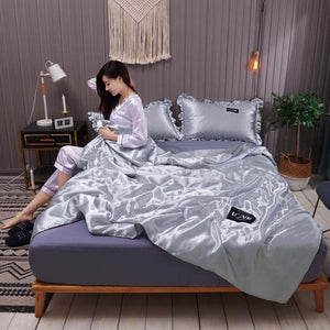 ✈️Delay insurance- Original Silk Ice Soft Cozy Summer Air Conditioning Quilt-Sexy Luxury Silk