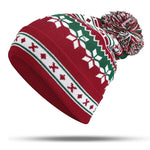 Load image into Gallery viewer, Winter Christmas Knitted Santa Claus Hat Soft Snowflake Beanie Hat Christmas Gift