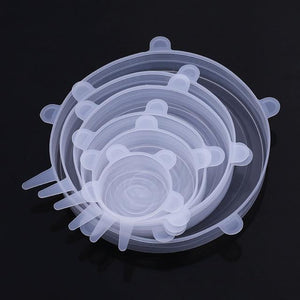 Kitchen Food Storage Silicone Cover-6 PCS