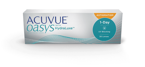Acuvue Oasys 1-Day HydraLuxe Astigmatism (Annual Supply of 24 Boxes)