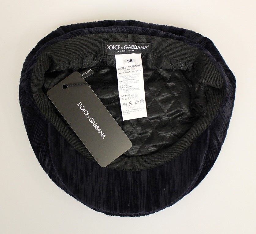 Blue Cotton Logo Hat Cabbie