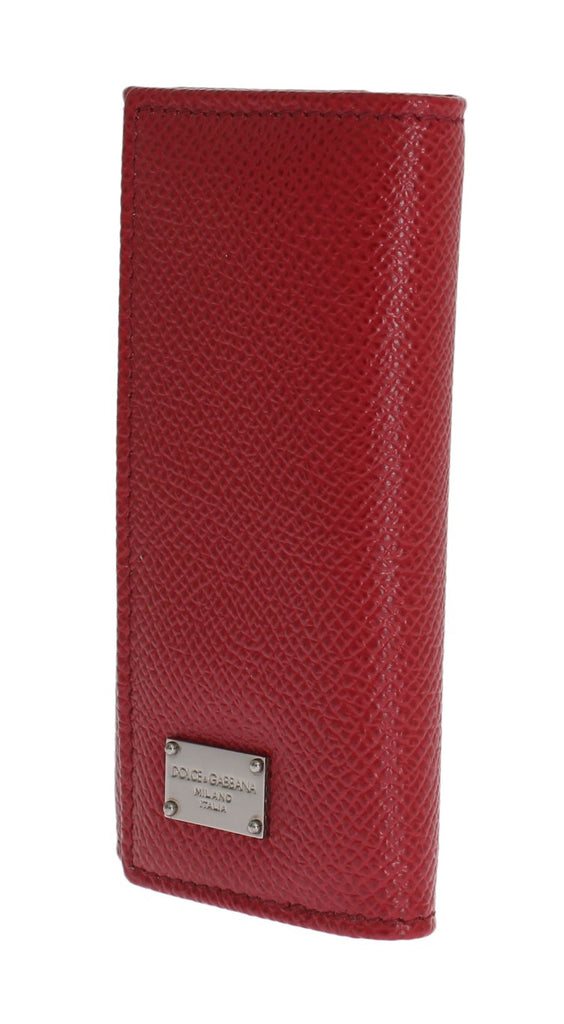 Red Leather Key Case Wallet