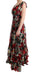Multicolor Silk Floral Shift Long Maxi Dress