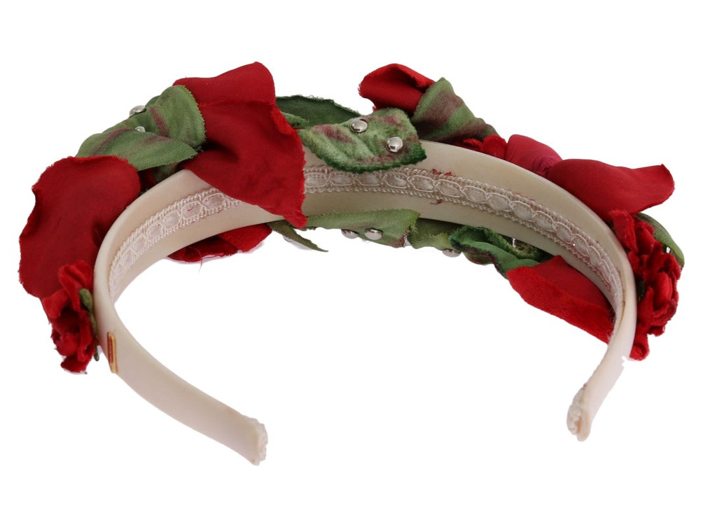 Red Roses Silk Studded Hair Headband