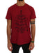 Red Cotton 2017 Motive Print T-Shirt