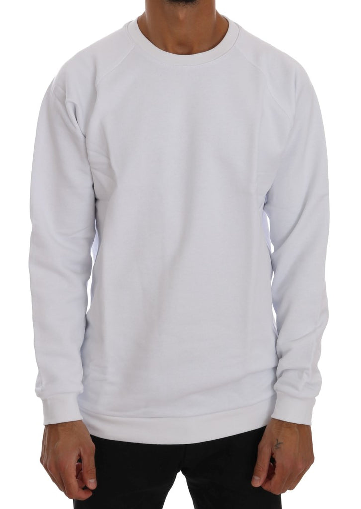 White Crewneck Cotton Sweater