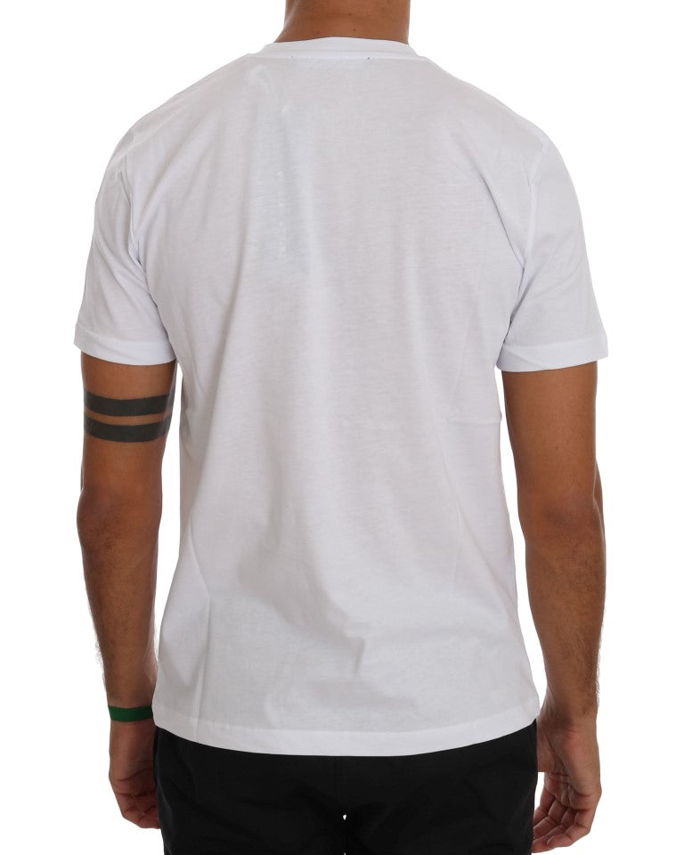 White  Cotton Branded T-Shirt