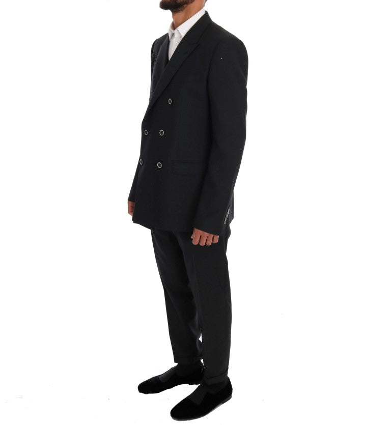 Gray MARTINI Wool Silk Slim fit Suit