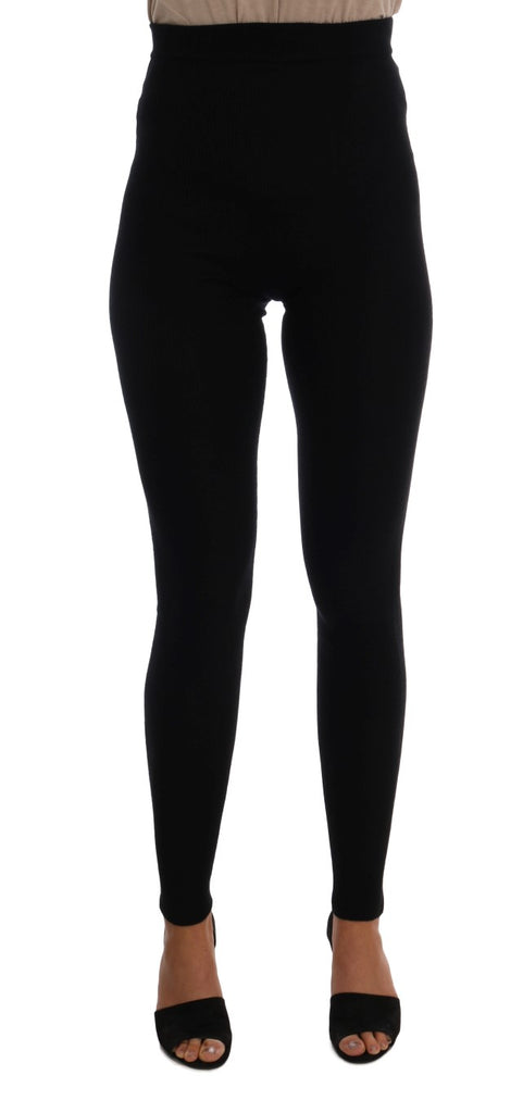 Black Cashmere Stretch Tights