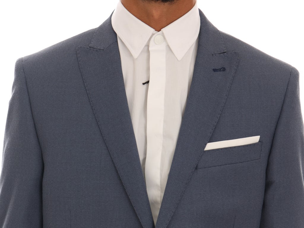 Blue Two Button Slim Fit Suit