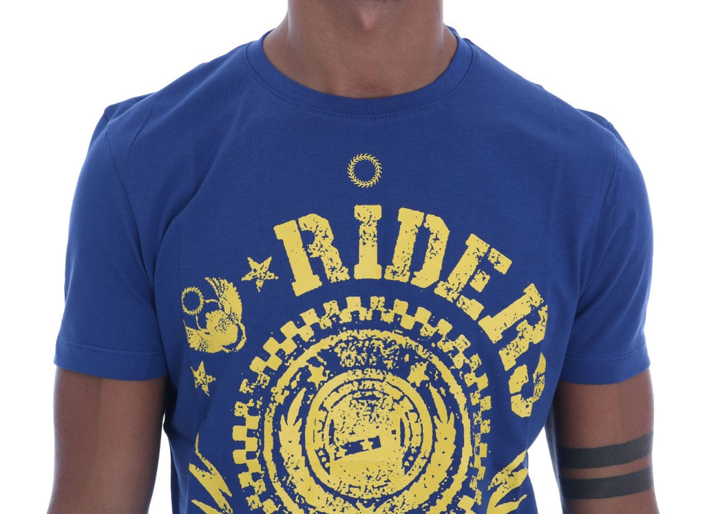 Blue Cotton RIDERS Crewneck T-Shirt