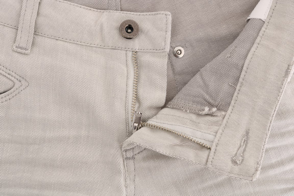 White Cotton Stretch Slim Jeans