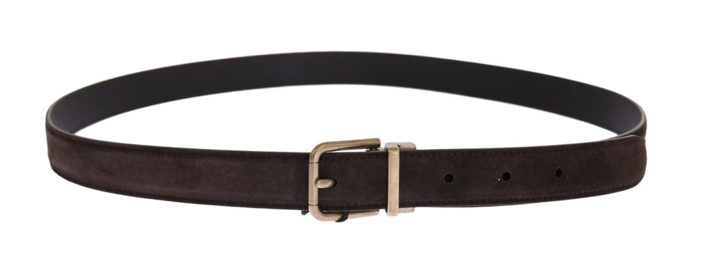 Brown Leather Gold Buckle Belt