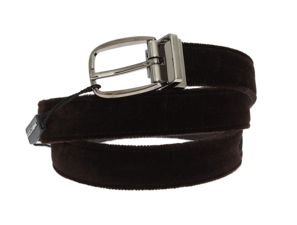 Brown Velvet Leather Belt