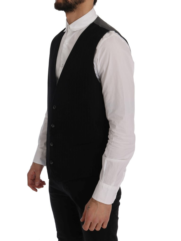 Black STAFF Cotton Striped Vest