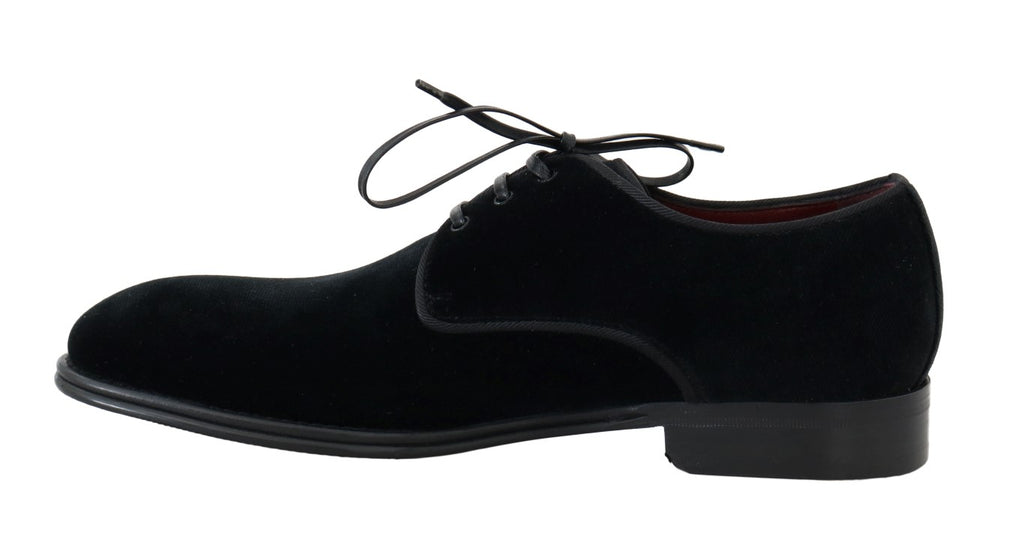 Black Velvet Dress Formal Derby Shoes