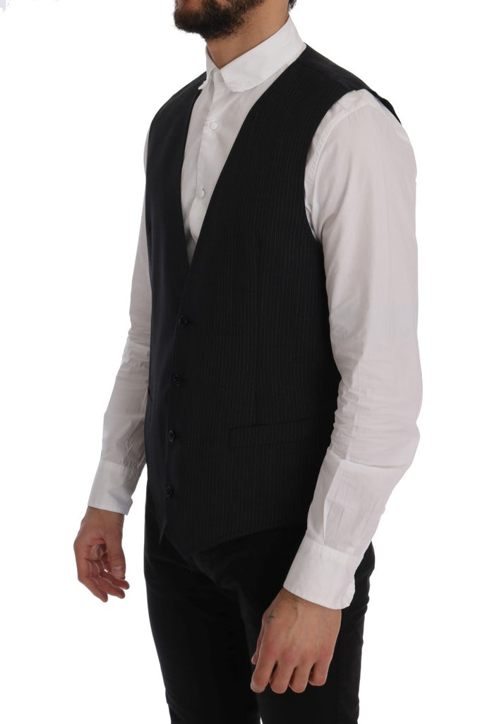 Gray Wool Stretch Vest