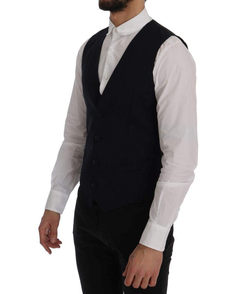 Blue STAFF Wool Stretch Vest