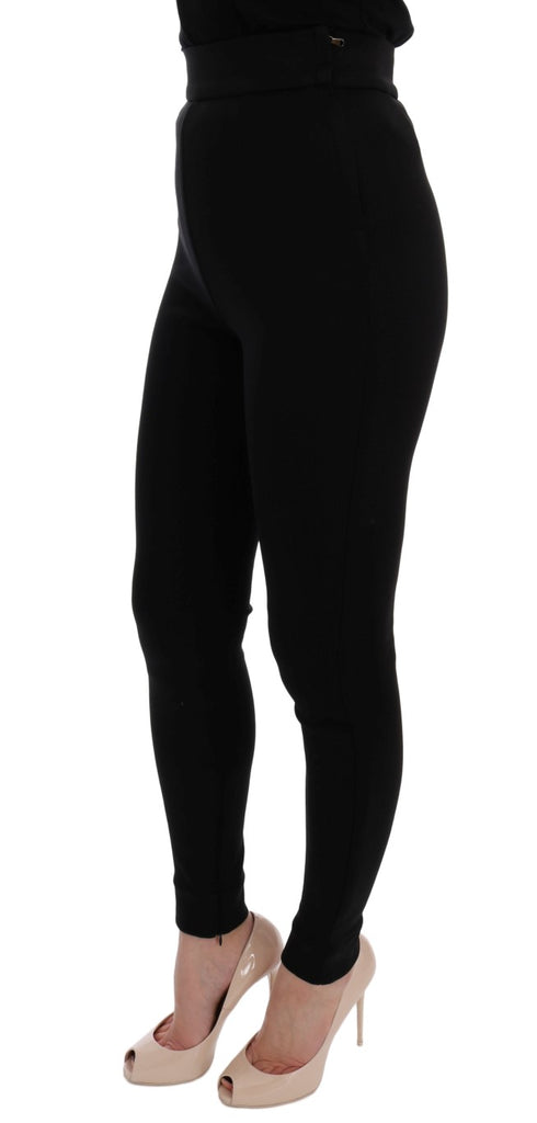 Black High Waist Stretch Tights