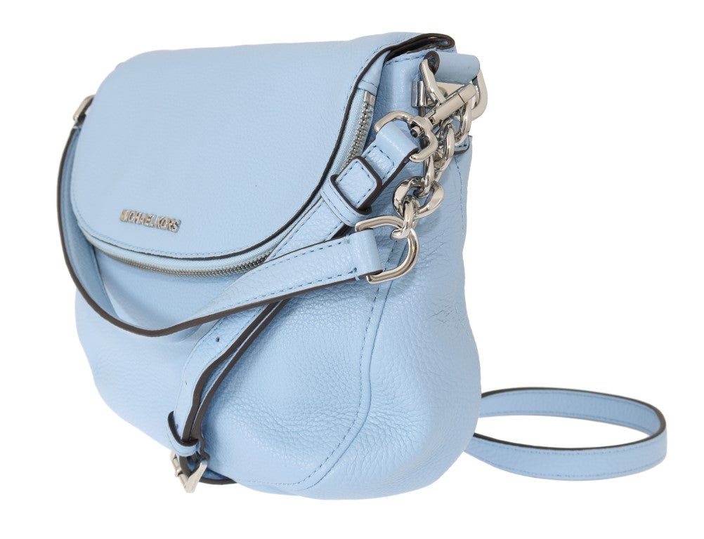 Blue BEDFORD Pebbled Leather Shoulder Bag