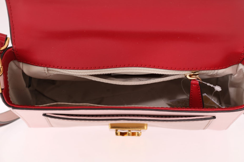 Red Pink MINDY Satchel Crossbody Bag