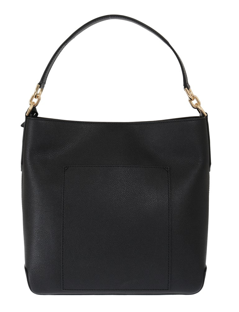 Black HAYES Leather Bucket Shoulder Bag