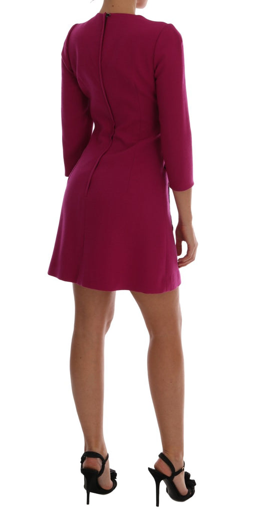 Pink Wool Stretch Pupi Di Teatro Dress