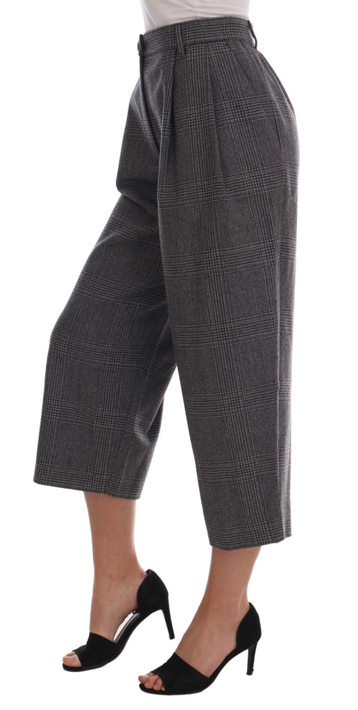 Gray Wool Capri Pants
