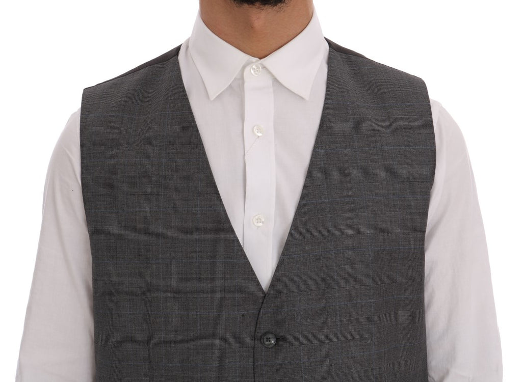 Gray Wool Formal Dress Vest