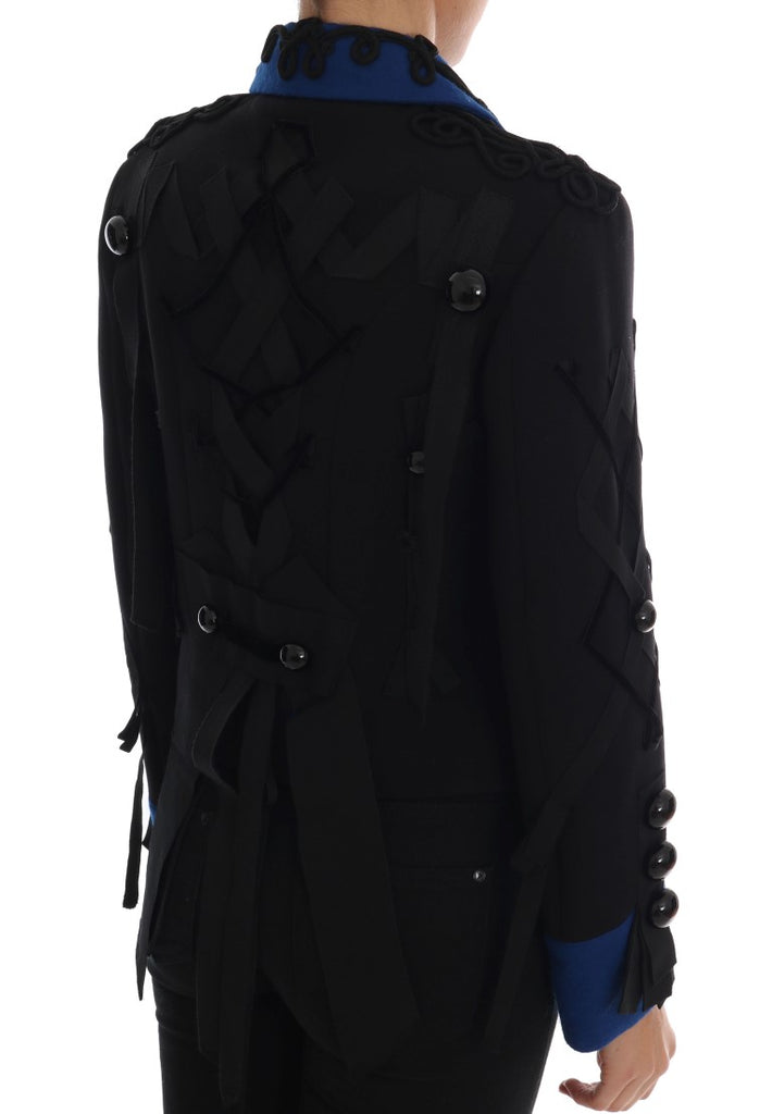 Black Wool Trench Jacket