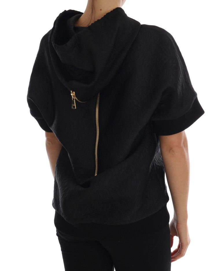 Black Fairy Tale Crystal Hooded Sweater