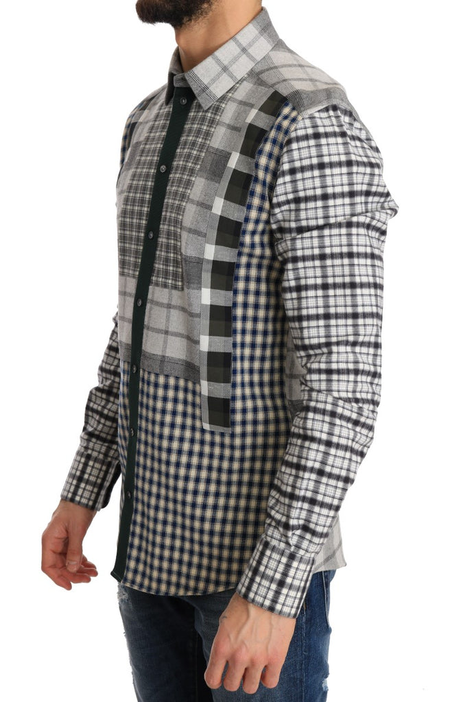 Multicolored Check GOLD Slim Fit Shirt