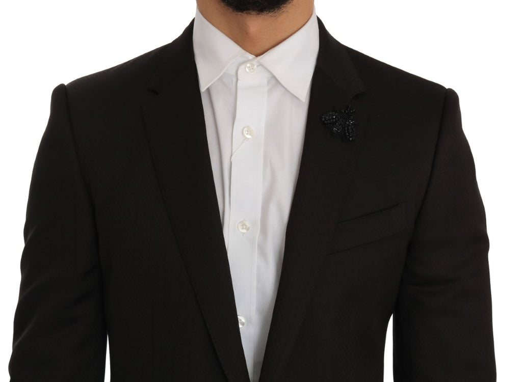 Brown Wool Crystal Bee Slim Fit MARTINI
