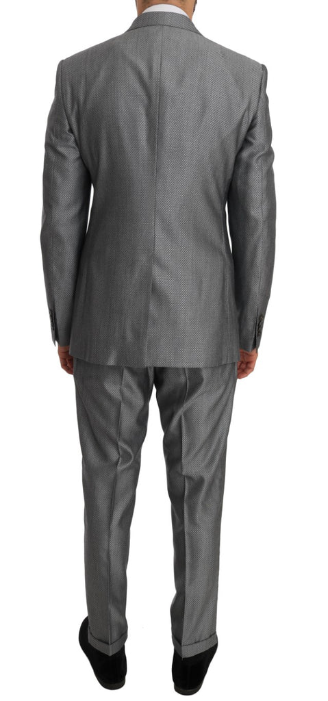 Black Stretch Crystal Bee Slim Fit Suit