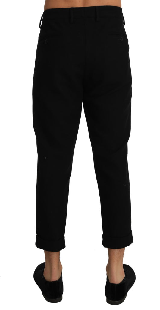 Wool Slim Cropped Trousers Pants