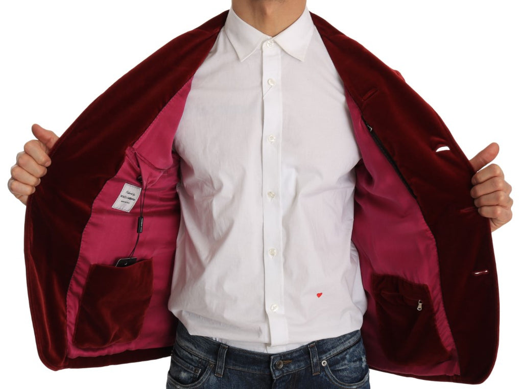Sport Coat Blazer Bordeaux Velvet Jacket