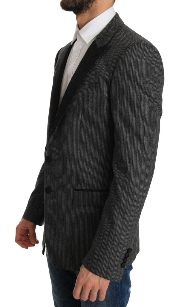 Gray Striped MARTINI Slim Blazer Jacket