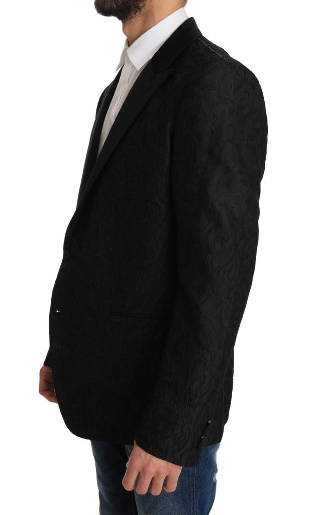 Black Jacquard MARTINI Blazer Jacket