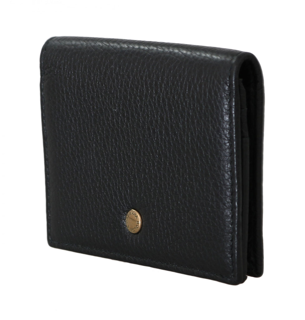 Black Leather ID Card Coin Holder Case Cover