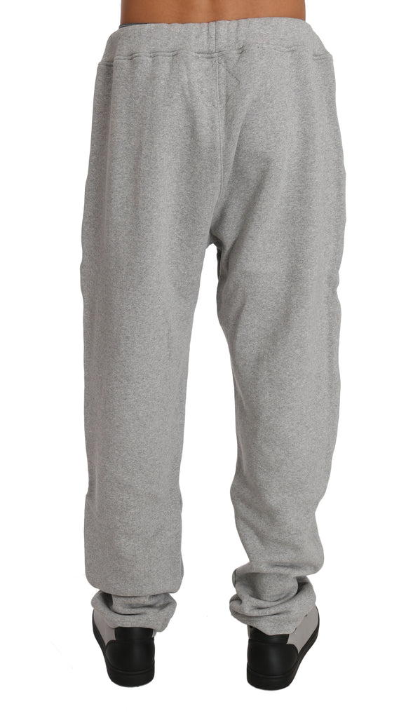 Gray Cotton Sweater Tracksuit
