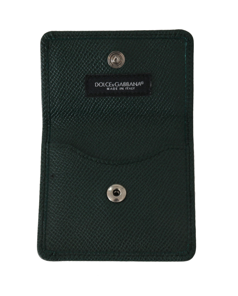 Green Dauphine Leather Condom Case Holder