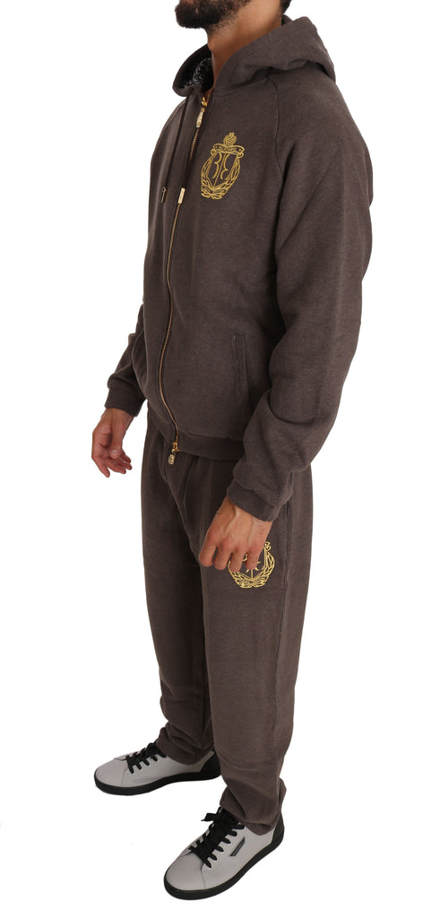 Brown Cotton Sweater Pants Tracksuit