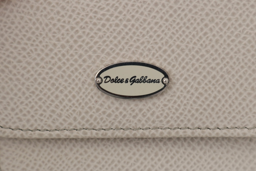White Dauphine Leather Condom Pocket Case
