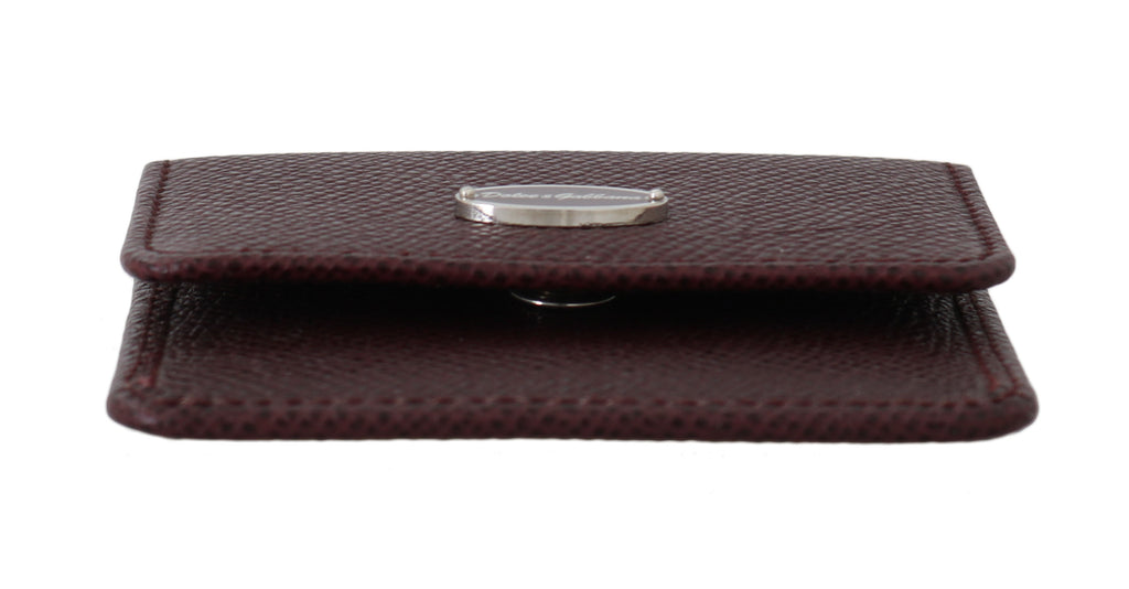 Bordeaux Dauphine Leather Condom Pocket Case