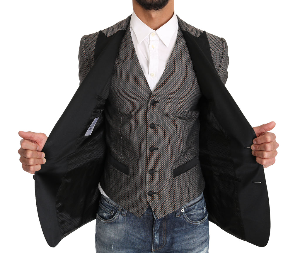 Blazer Vest 2 Piece Gray MARTINI Pattern