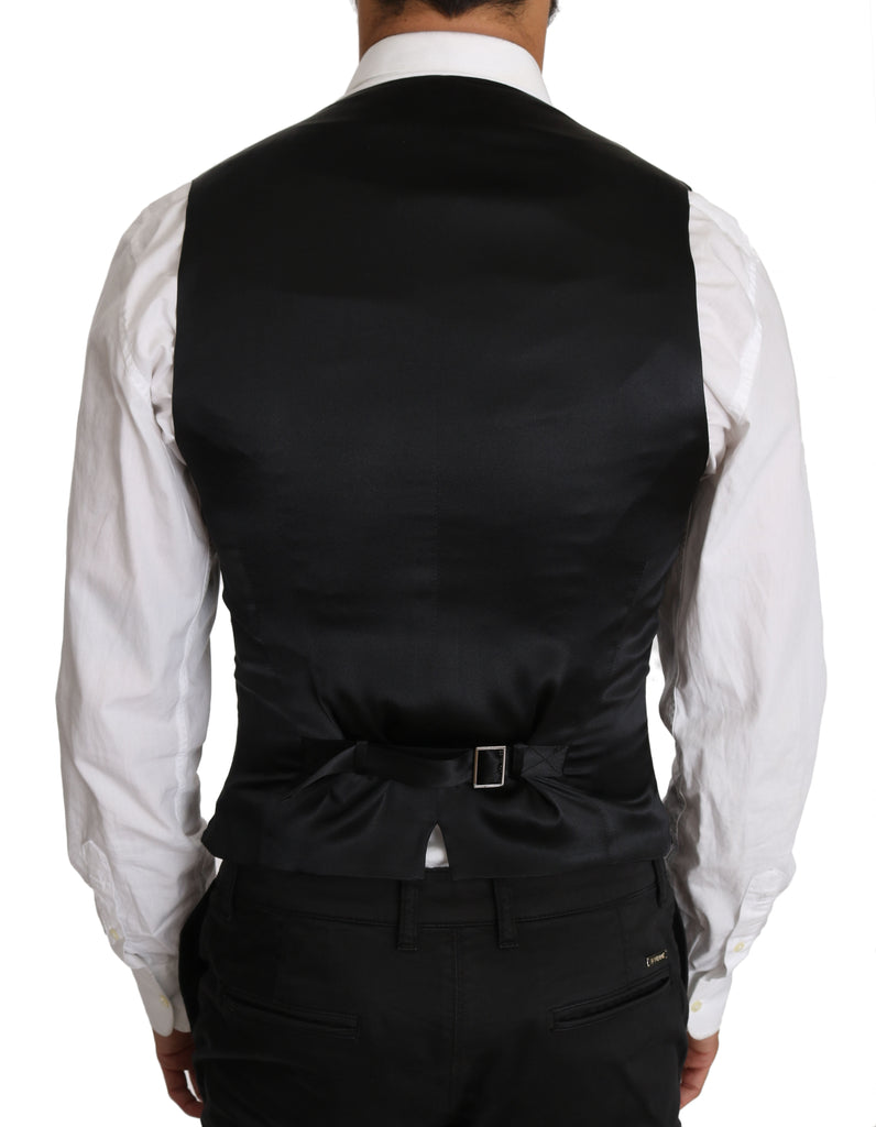 Gray Wool Double Breasted Waistcoat Vest